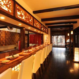 京町屋を生かした空間は、大切なお食事やお祝いの席におすすめ◎