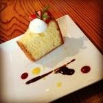 Kitchen GOOD!! - 【ランチ】デザート、伊予柑のシフォンケーキ