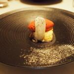 18693984 - エスプレッソと小豆のティラミス・木苺ジェラート