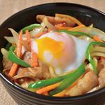 琉球居酒屋 南久宝寺 - 野菜たっぷり豚バラ丼