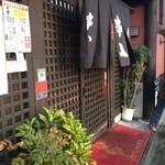 串八 - 串八 白梅町本店の玄関(13.04)