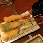 串八 - 串八 白梅町本店の串カツ えび・キス・?(13.04)