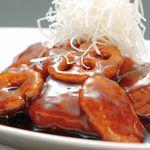 張家口 - 料理写真:中国黒酢のスブタ 1,000円(ハーフサイズ 580円)