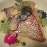 アルベロ - 真鯛のソテー甘ねぎたっぷり葛のソース