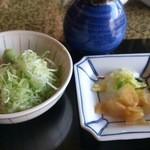 ひつまぶし 備長 - 薬味(山葵と葱)とお新香