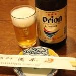 鮨 浅草 - オリオンビール(中瓶600円)