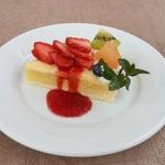 カームカフェ - 相方の苺のタルト