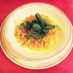 プレゴ - 桜海老と菜の花のスパゲッティーニ