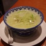 味の牛たん 喜助 丸の内パークビル店 - セットのテールスープ