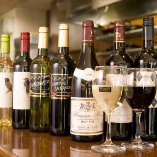 世界のワインを豊富にご用意しています。