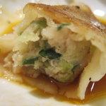 龍門 - 焼き餃子のアップ