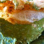 ほんとのインド料理とカレーの店 - カチョリの中は酸味の効いたミントソース