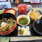 寿作 - 野菜かき揚げ御膳(十割そば)