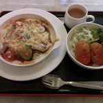 中央区役所 グリル - 茄子とトマトのミートドリア@680