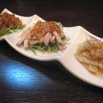 Suirouhonkan - 前菜三種盛り合わせ