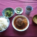めし久太郎 - 定食(ハンバーグ)