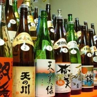 100種類の地酒・焼酎!お好みの一杯を見つけて下さい☆
