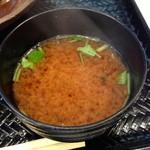 18735689 - 赤出し味噌汁