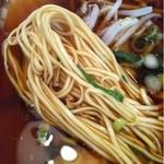 第二スター - 中華そば(麺アップ)