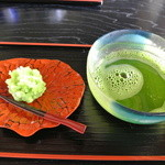 Chaanfuyou - 冷抹茶(季節の上生菓子付き)¥750