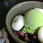Chaanfuyou - 抹茶白玉あづき ¥700