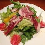 レストランバー YUME - 生ハムと有機野菜のサラダS 680円