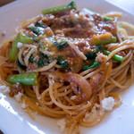ピッツェリア ホリウチ - 信州ポークのミンチと小松菜のトマトソーススパゲティ