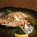 Jimbee - 本日のお薦め:ヤマトビー塩焼き@950円