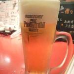 焼酎房 うお座 - 生ビール(プレミアムモルツ)\500