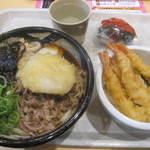 ぶっかけ亭本舗ふるいち - ☆揚げ出し餅肉ぶっかけうどん+ミニ天丼セット☆