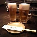 18745500 - 生ジョッキとグラス