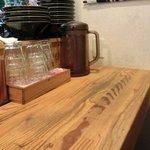 麺屋KABOちゃん - 【'13/04/29撮影】店内のカウンター席の風景です