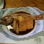 やまじ - 高級魚のノドグロ。煮つけで頂きました