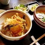座忘庵 - 天丼とうどんのランチセット
