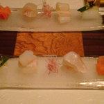 旬包丁処 味菜 - イカ、スズキ、アマガレイ、カジキの刺身