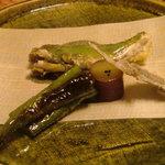 旬包丁処 味菜 - 鮎 アマシシトウ