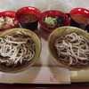 山路 - 料理写真:お得な中皿2枚セット「おろしそば+おろしとろろそば」750円