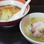 18750220 - 日替り定食(天津飯と半ソバ)