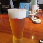 南せんば すし処築地 - 生ビール中 420円
