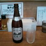 煮干しそば 虎空 - 渇いた喉に…ビール中瓶(450円)×3でいっちゃいましたぁ~♪