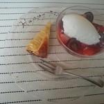 18752264 - デザート                       ロウソクをふーっとした後