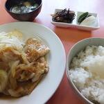華楽 - 生姜焼き定食¥650