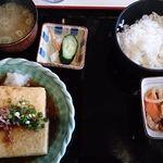 レストハウス ゆのさわ - 豆腐ステーキ定食