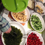 KurumeriaARK - 沖縄料理フェア開催中で、サラダバーでは海ぶどう食べ放題。