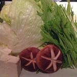 18758927 - 黒豚しゃぶの野菜