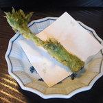 もりき - 独活の芽の天ぷら (店主からの差し入れです)