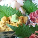 シーフードレストラン オールドリバー - 海水ウニ~!