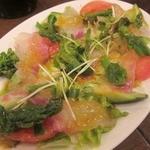 すぽっと - タイと菜の花のカルパッチョ