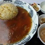 18763962 - 特製フカヒレあんかけ炒飯(限定20食):1575円