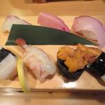 18765073 - 上にぎり寿司七貫盛り